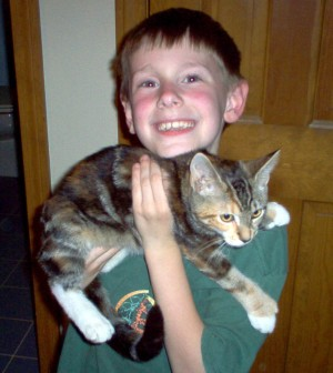 Demetri & our new kitten without a name