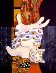 Klimt Kitty, paper sculpture. © Denise Ortakales