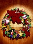 Holiday Wreath, paper sculpture. © Denise Ortakales